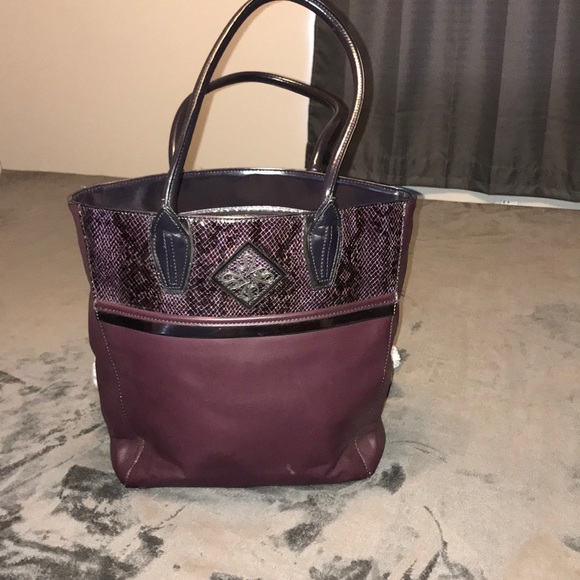 4965c0cbcadd Vera Wang eggplant tote bag free shipping for 1hr
